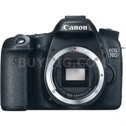 """EOS 70D 20.2 MP CMOS (APS-C) Digital SLR Camera with 3"""" LCD Factory Refurbished"""