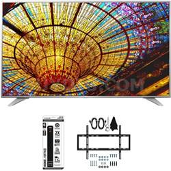 55UH6550 55-Inch 4K UHD Smart TV w/ webOS 3.0 Slim Flat Wall Mount Bundle