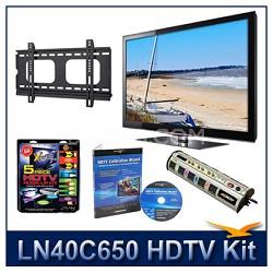 "LN40C650 - 40"" HDTV + Hook-up Kit + Power Protection + Calibration + Flat Mount"