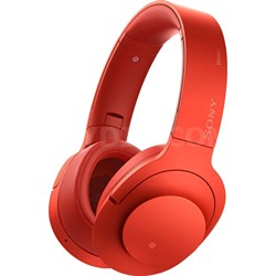 MDR100 h.Ear on Wireless NC On-Ear Bluetooth Headphones w/ NFC - Cinnabar Red