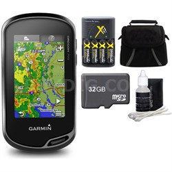 Oregon 700 Handheld GPS with Built-In Wi-Fi & Bluetooth 32GB MicroSD Bundle