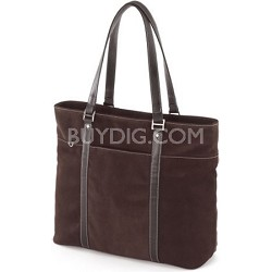 """METL08 Suede Ultra Tote chocolate computer case for Laptops up to 15.4"""""""