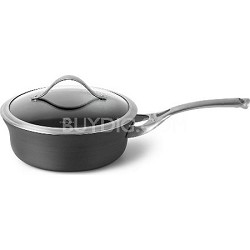 2.5-qt. Contemporary Nonstick Dishwasher Safe Shallow Sauce Pan with Cover