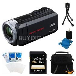GZ-R10B Quad Proof Black 2.5 MP HD Camcorder and 16GB Card Bundle