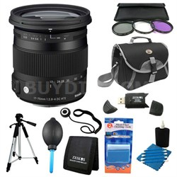 17-70mm F2.8-4 DC Macro OS HSM Lens for Sigma Deluxe Filter Kit Bundle