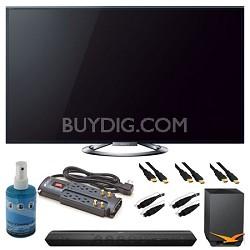 """KDL-55W900A 55"""" Motionflow XR 960 LED Internet HDTV and Sound Bar Bundle"""