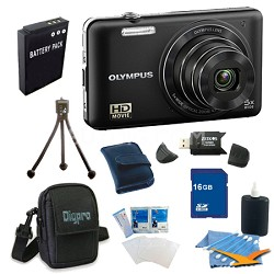 16 GB Kit VG160K 14MP 5x Opt Zoom Black Digital Camera - Black
