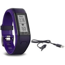 Vivosmart HR+ Activity Tracker Bundle, Regular Fit with Cable (Imperial Purple)