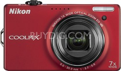 COOLPIX S6000 14.2 Megapixel Digital Camera (Red)
