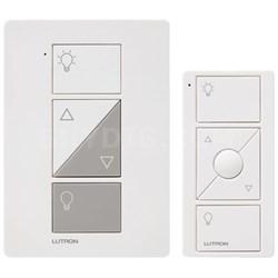 Caseta Wireless Plug-In Lamp Dimmer w/ Pico Remote Control Kit, White
