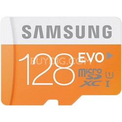 128GB EVO Micro SDXC up to 48MB/s with Adapter - MB-MP128DA/AM