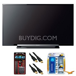 "KDL-40R450A 40"" 120Hz 1080p Black LED HDTV Surge Protector Bundle"