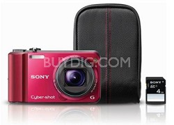 Cyber-shot DSC-H70 Red Digital Camera Bundle