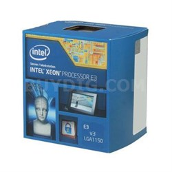 Xeon E3-1231 v3 3.4 GHz Processor - BX80646E31231V3