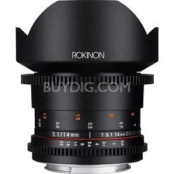 DS 14mm T3.1 Full Frame Ultra Wide Angle Cine Lens for Nikon Mount