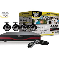 4 Channel LTE Full D1 DVR 500GB Hard Drive 4 x Indoor/Outdoor Cameras & Software