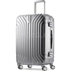 "Tru-Frame Hard Shell Matte Silver 25"" Spinner Suitcase"