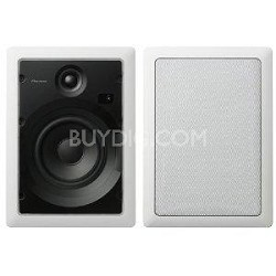 S-IW631-LR Custom Series 6.5-Inch Rectangular In-Wall Speakers (Pair)