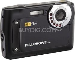"S7 IR Night Vision Slim 12.2 MP Black Digital Camera w/ 5X Zoom, 2.7"" LCD"