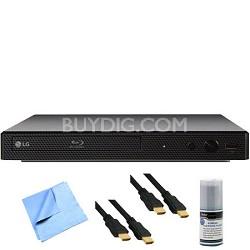 BP350 - Smart Wi-Fi Streaming Blu-ray Disc Player Plus Hook-Up Bundle