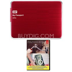 My Passport Ultra 2 TB USB 3.0 HDD Red & Photoshop Premiere Elements 12
