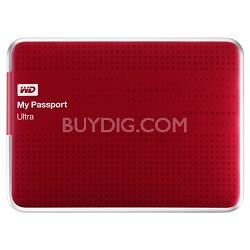 My Passport Ultra 500GB USB 3.0 Portable Hard Drive - WDBPGC5000ARD-NESN (Red)