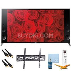"XBR65X900B - 65"" 120Hz 3D LED Premium 4K Ultra HD TV Tilt Mount & Hook-Up Bundle"