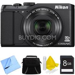 COOLPIX S9900 16MP HD 1080p 30x Opt Zoom Digital Camera - Black Bundle