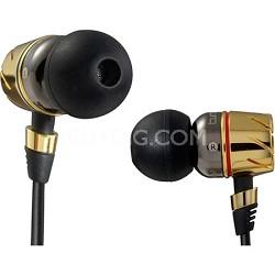 Monster MHTRB-PIEGLD Turbine Pro Gold Audiophile In Ear Speakers (129393)