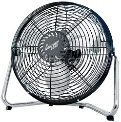 "12"" High Velocity Cradle Fan (Black) - CZHV12B"