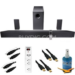 "42"" 5.1 Home Theater Sound Bar Subwoofer & Speakers Plus HookUp Bundle S4251W-B4"