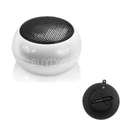Speaker Ball for iPhone, iPod, iPad, All Tablets, and MP3's - White