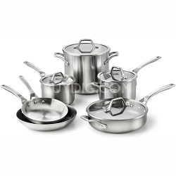 10-pc. AccuCore Stainless Steel Cookware Set - 1833876