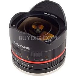 8mm F2.8 UMC Ultra Wide-Angle Fisheye Lens for Sony E-Mount - Black