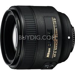 AF FX Full Frame NIKKOR 85mm f/1.8G Fixed Lens - FACTORY REFURBISHED