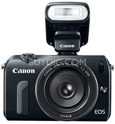 EOS M 18MP SLR Camera w/ 18-55mm STM Lens And Speedlight 90 EX Flash System