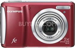 """FE-47 14MP 2.7"""" LCD Digital Camera (Red)"""