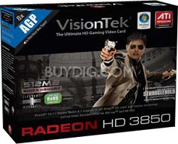 RADEON 3850 AGP 512MB GDDR3 DVI-I TV OUT HD TV