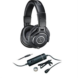 ATH-M40x Professional Studio Monitor Headphone + ATR 3350i Microphone