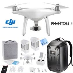 Phantom 4 Quadcopter Drone w/ Hardshell Backpack + Spare Battery Bundle