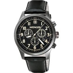 Men's Terragraph Chonograph Watch - Black Dial/Black Leather - OPEN BOX