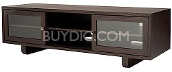 "JFV60C - Dual Purpose Wide 3 Shelf A/V Cabinet, TVs up to 63"" (Chocolate Finish)"