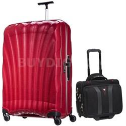 """33"""" Black Label Cosmolite Spinner (Bright Pink) + Wenger Laptop Boarding Bag"""