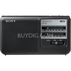ICF-38 Portable AM/FM Radio - OPEN BOX