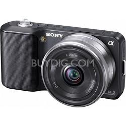 Alpha NEX-3 Interchangeable Lens Black Digital Camera w/ 16mm Lens