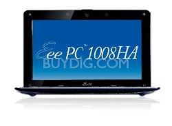 Eee PC 1008HA-PU1X-BK Pearl Black Seashell 10.1 inch NetBook