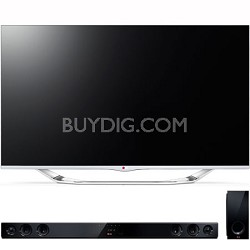 """55"""" Class 1080p 240Hz Cinema 3D Smart TV (55LA7400) with NB3530A Sound Bar"""