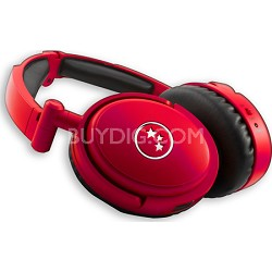 Musicians' Choice NC180RDM Around the Ear ANC Headphones - Red