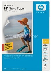 Advanced Glossy Photo Paper-100 sht/4 x 6 in borderless (Q6638A)