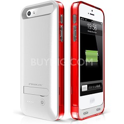 Power iPhone 5/5s External Protective Battery Case - MFI Apple Certified (Red)